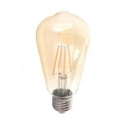 LED pære - Kultråd, røget glas